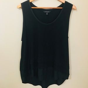 XL Banana Republic Black Shell/Tank.